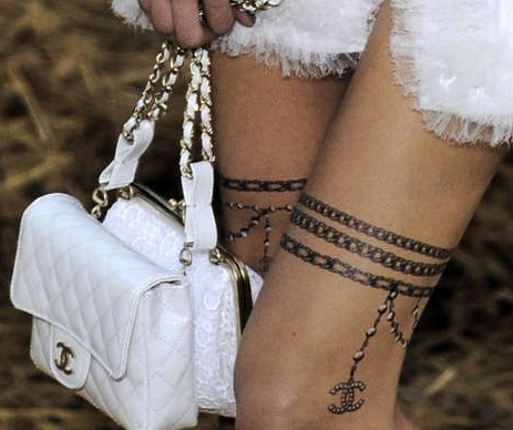 I even seriously thought about a 'real' Chanel logo tattoo on my ankle…but